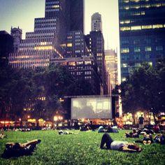Movie in Bryant park NY