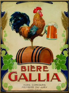 PLAQUE METAL 20X15cm PUBLICITE BIERE GALLIA MARSEILLE