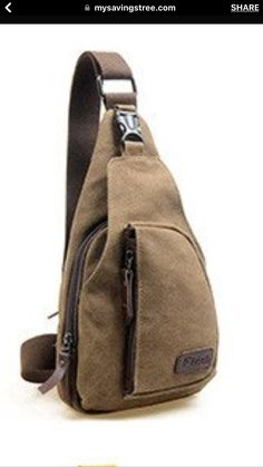 b3b4acd4a Kalevel Cool Outdoor Sports Casual Canvas Unbalance Backpack Crossbody  Sling Bag Shoulder Bag Chest Bag for Men - Size L (Coffee)