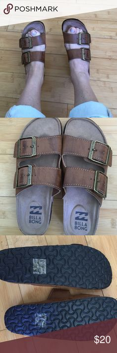 NWOT Billa Bong faux leather sandals 7 NWOT Billa Bong faux leather sandals 7 Billabong Shoes Sandals