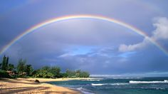 "Rainbow meaning. also tells you that your intuition is keener that you might have imagined. it says ""it's a sure sign to trust your vibes"". Double Rainbow Meaning, Receiving The Holy Spirit, View Wallpaper, Exotic Places, Over The Rainbow, Nice View, Folklore, Amazing Photography, Meant To Be"