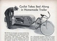 Sleeping bike trailer