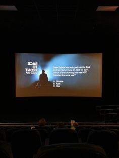 This was a one night event showing of Peter Gabriel's Back to Front Tour at Pointe Orlando's Regal Cinemas in 2014.