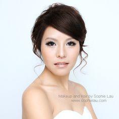 Asian bridal makeup  Asian Wedding makeup www.sophielau.com