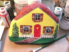 painted rocks houses | Palette Full of Blessings: A painted rock house
