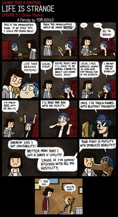Life is Strange episode 3 parody comic Arcadia Bay, Life Is Strange 3, Rap Albums, When Im Bored, Bad Puns, Partners In Crime, Funny Comics, Gay Comics, Tumblr Funny