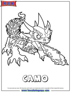 Skylander colouring pages on pinterest skylanders for Camo coloring pages