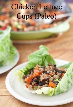 Chicken and Lettuce Cups | DeliciouslyOrganic.net #grainfree #paleo #recipe