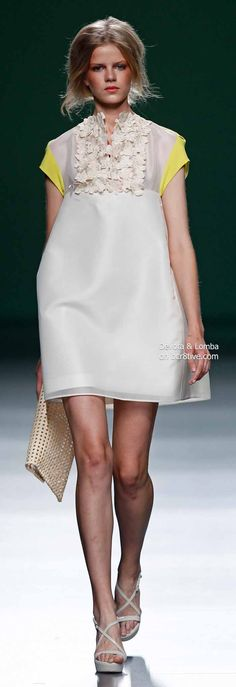 Devota & Lomba Spring 2014 Collection featured during Mercedes-Benz Fashion Week Madrid Latest Fashion Trends, Runway Fashion, High Fashion, Yellow Fashion, Haute Couture Fashion, Fashion Stylist, Her Style, Casual Chic, Beautiful Outfits