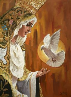 ::RAÚL BERZOSA pinta Virgen de la Paloma (Málaga).
