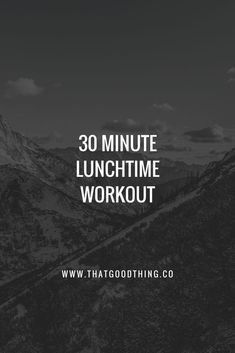 Short on time? Here's a quick 30 minute lunch workout to get your blood pumping! Fitness Quotes, Fitness Motivation, Strength Training For Beginners, Positive Body Image, 30 Minute Workout, Gym Training, Weight Loss Inspiration, Lunch Time, Workout Challenge