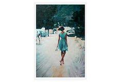 Thomas Saliot, Bare Feet, Blue Dress
