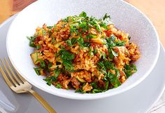 Poh's Italian sausage and tomato rice for SunRice