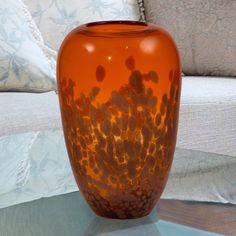 Dale Tiffany Orange Gold Vase