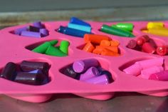 We've all melted crayons, but imagine doing it on a hot Nebraska day on your windshield!  Fun idea!