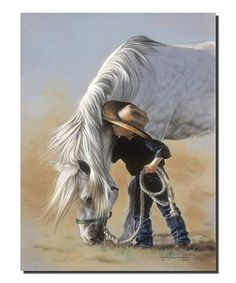 Little Whispers by Lesley Harrison Boy Talking to Horse Little Cowboy Framed Art Print Wall Décor Picture Pretty Horses, Horse Love, Beautiful Horses, Animals Beautiful, Cute Animals, Cowboy Horse, Cowboy Art, Arte Equina, Little Cowboy