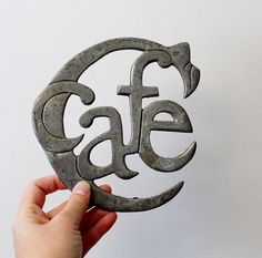 Vintage Aluminum Cafe Trivet - Made in India - Cafe Wall Hanging - Hot Plate Trivet by Suite22 on Etsy