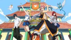 """Fairy Tail Opening from the first season. """"Fairy, where are you going?"""""""