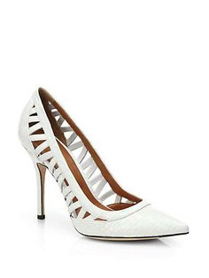 The perfect white pump from Rachel Roy gets an update with cool cutouts.