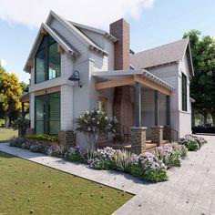 Dream house в 2019 г. dream house exterior, house styles и Casas The Sims 4, Building A Porch, Building Homes, House Building, Building Ideas, Building Plans, Modern Farmhouse Exterior, Farmhouse Decor, Farmhouse Front