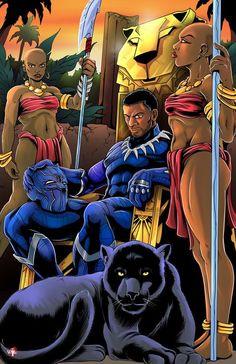 King T'Challa by WiL-Woods.deviantart.com on @DeviantArt