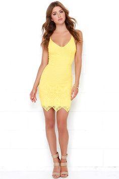 Cute Yellow Dress - Lace Dress - Sleeveless Dress - $68.00