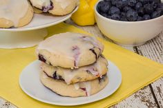 Soft Blueberry Cookies