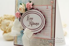 Inspired by Stamping, Joanna Munster, Beautiful Ovals stamp set, Heartfelt Greetings stamp sets, IBS flowers and ribbon