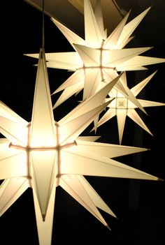 Moravian Star Lights - want to find for next year 12 Days Of Christmas, Christmas Lights, Christmas Decorations, Christmas Ornaments, Hanging Star Light, Moravian Star Light, Young House Love, Best Iphone Wallpapers, Light Crafts