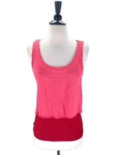 C. Keer Anthropologie size Small Dividing Line Double Layer Tank #Anthropologie #Tank #Casual