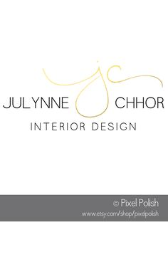 Handwritten Initials Logo for Julynne Chhor, Interior Design.