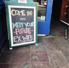 Funny bar sign.