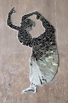 Broken mirror mosaics on Dwight St. under railroad trestle Springfield MA, 2009, 2010, 2011
