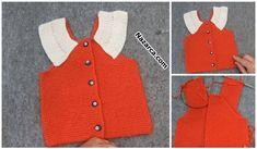 TIĞLA ÜÇGEN BAŞLANAN KIZ ERKEK ASKILI BEBEK ŞORT | Nazarca.com Baby Vest, Baby Knitting Patterns, Polka Dot Top, Diy And Crafts, Sweaters, Women, Fashion, Vest Coat, Boleros