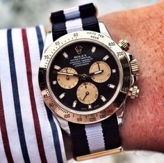 Rolex Daytona Black with Nato Strap