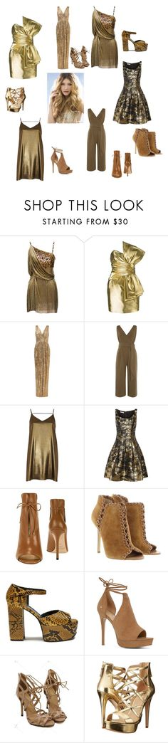 """Honey"" by tessorolara100 ❤ liked on Polyvore featuring Versace, Yves Saint Laurent, Badgley Mischka, Lost Ink, River Island, Oscar de la Renta, Jimmy Choo, Michael Kors, Mulberry and ALDO"