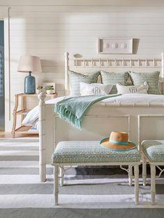 decor beach house #BEACHHOUSES Coastal Master Bedroom, Beach House Bedroom, Coastal Bedrooms, Coastal Living Rooms, Bedroom Sets, Home Bedroom, Bedroom Furniture, Bedroom Decor, Gray Bedroom