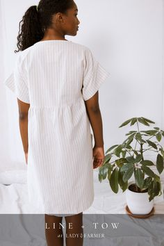 ethically sourced and sewn apparel, designed to last in Roanoke, VA. Now available at Lady Farmer! Recycled Denim, Fashion Line, Slow Fashion, Sustainable Fashion, Farmer, Shirt Dress, Lady, Shirts, Shopping