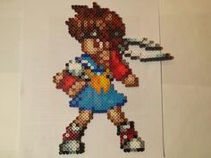 Street fighter Sakura perler