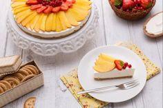 Cheesecake alle pesche senza lattosio e senza glutine