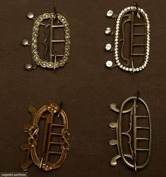 Augusta Auctions, April 17, 2013 - NYC: Four Men's Neck Stock Buckles, 18th C-1830s