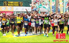 #Comrades #Marathon - #SouthAfrica  The world's oldest and largest #ultramarathon run covers around 90km and takes place between #Pietermarizburg in KwaZulu-Natal, and #Durban. You can contact us for #customized #fabric products as per your logo, name, #triathlete, official logos for #Tshirts and #merchandise at info@t10sports.com 9266662301