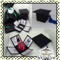Grad Party Favors, Graduation Party Themes, Grad Parties, Fun Arts And Crafts, Diy Crafts For Gifts, Fun Crafts For Kids, Diy Graduation Gifts, Unique Christmas Trees, Picture Gifts