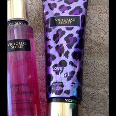 Victoria secret bundle Fragance lotion love spell flirt 236 ml, fragance mist strawberry & champagne 250 ml. Brand new. Victoria's Secret Makeup