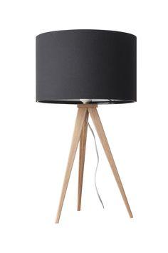 Tripod tafellamp hout - Zuiver - zwart