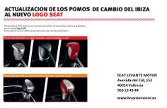Pomos personalizados para #SEAT ibiza. www.levantemotor.es