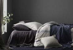 The 5 Best Paint Colors For Bedrooms Dark Gray Bedroom, Grey Bedroom Paint, Best Bedroom Paint Colors, Dark Paint Colors, Modern Bedroom, Diy Bedroom, Bedroom Ideas, Master Bedroom, Blue Green Bedrooms