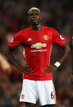 Paul Pogba of Manchester United reacts during the Premier League match between…