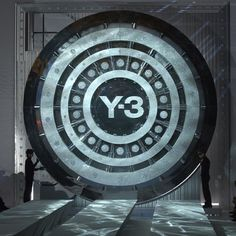 | #ThrowbackThursday | @y-3 Spring/Summer 2006: This vault's massive steel door moved off stage to reveal the models as they made their entrance onto the runway #tbt #adidas #Y3