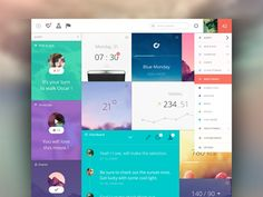 Panels Dashboard. Not very good hierarchy, but fun inspiration none the less.
